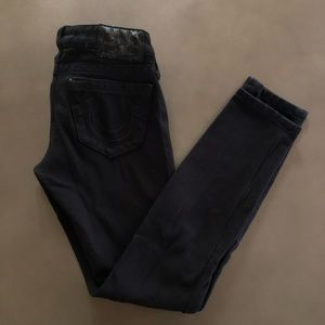 Black True Religion Stretchy Skinny Jeans